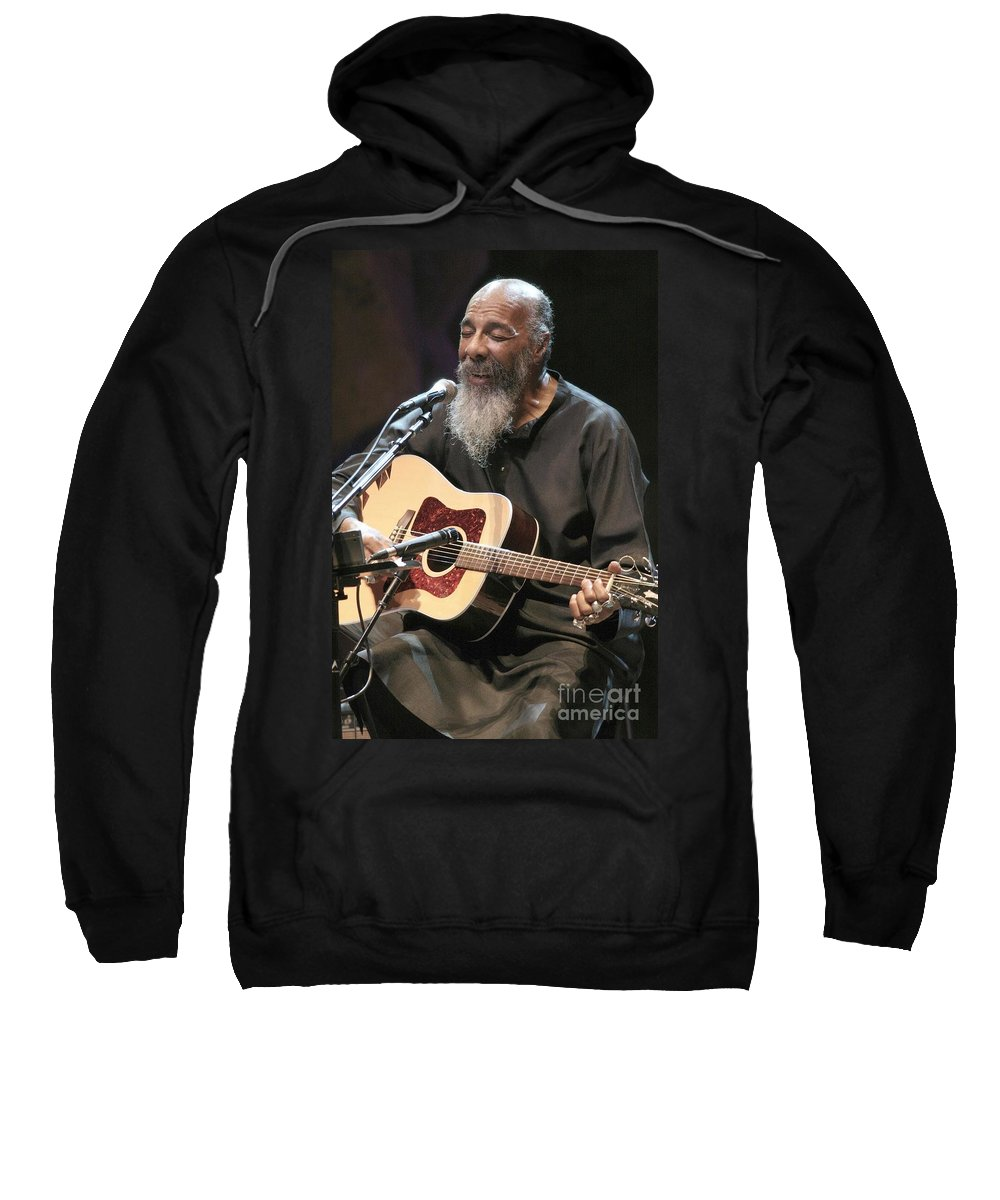 Singer Sweatshirt featuring the photograph Richie Havens by Concert Photos