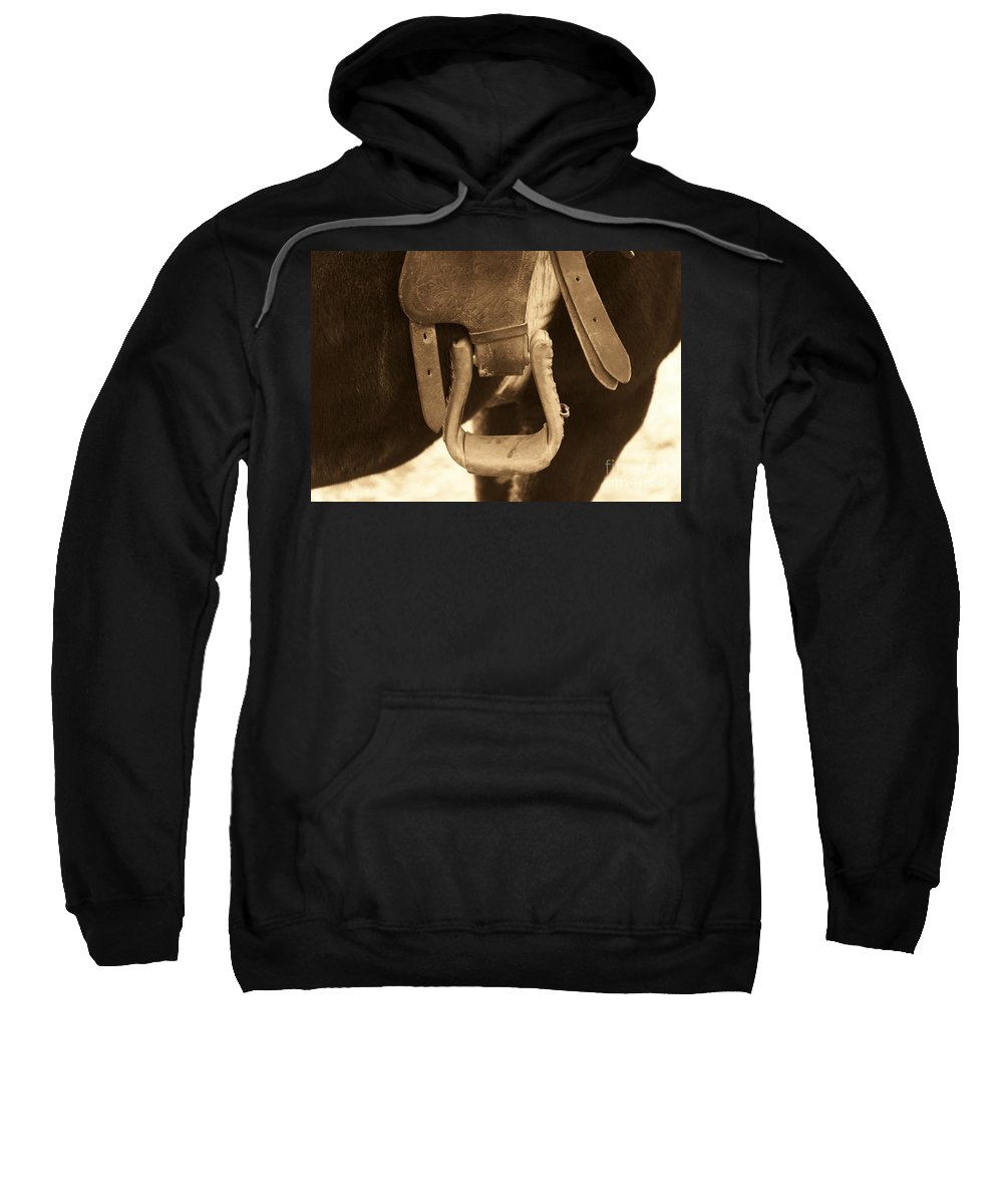 Horse Sweatshirt featuring the photograph Riding The Range by Brandi Maher