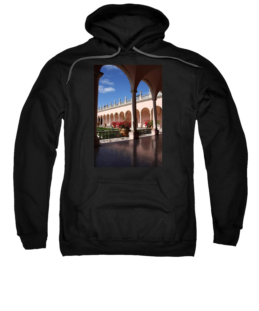 Ringling Museum Sweatshirt featuring the photograph Ringling Museum Arcade by Christiane Schulze Art And Photography