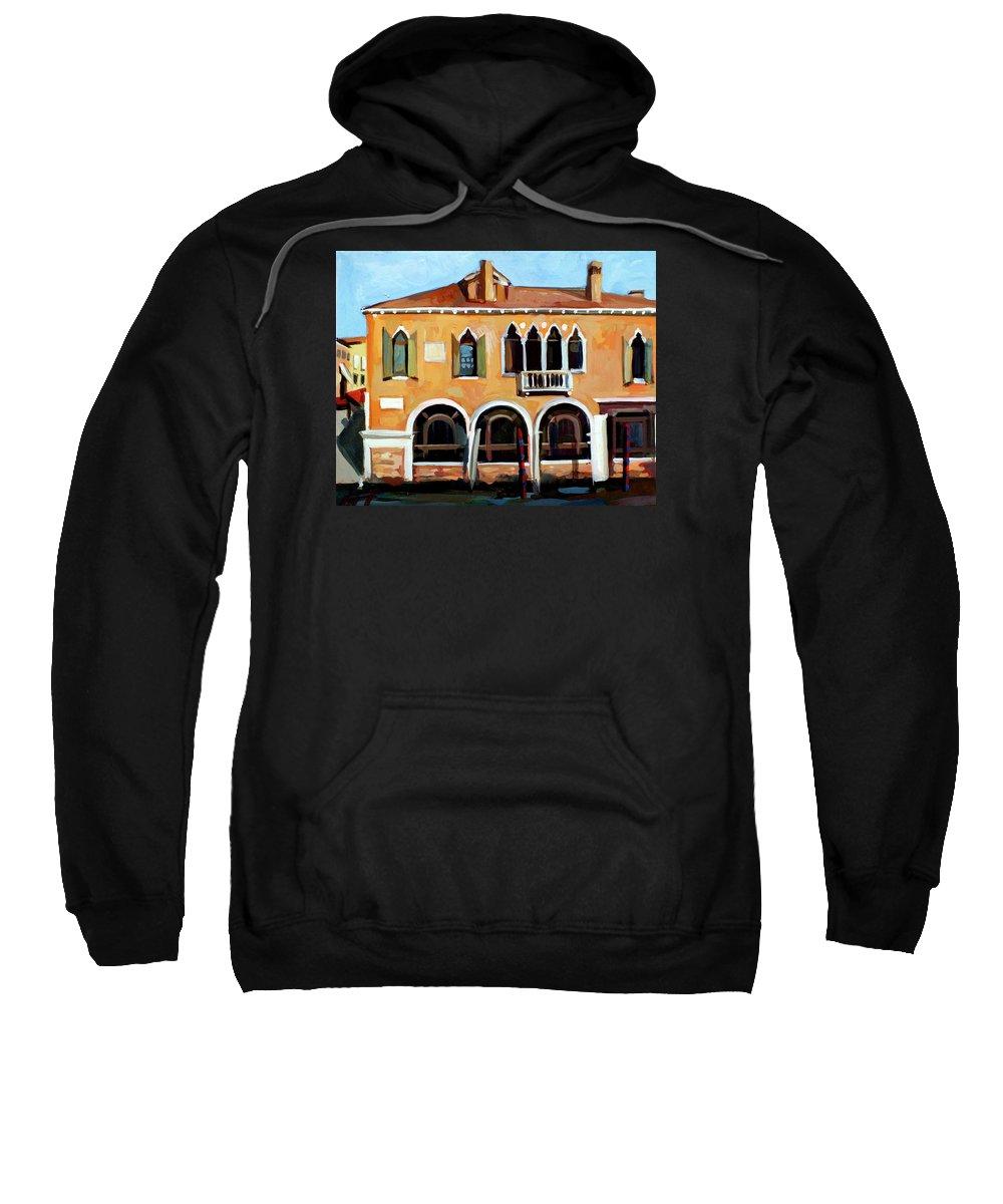 Venice Sweatshirt featuring the painting Rio Del Malcanton by Filip Mihail