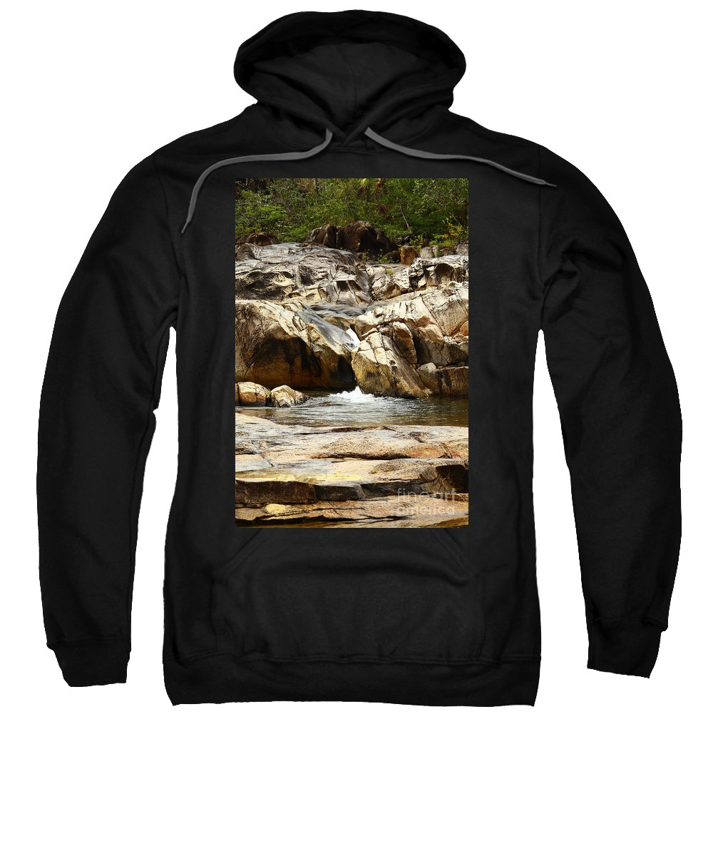 Belize Sweatshirt featuring the photograph Rio On Pools by Kathy McClure