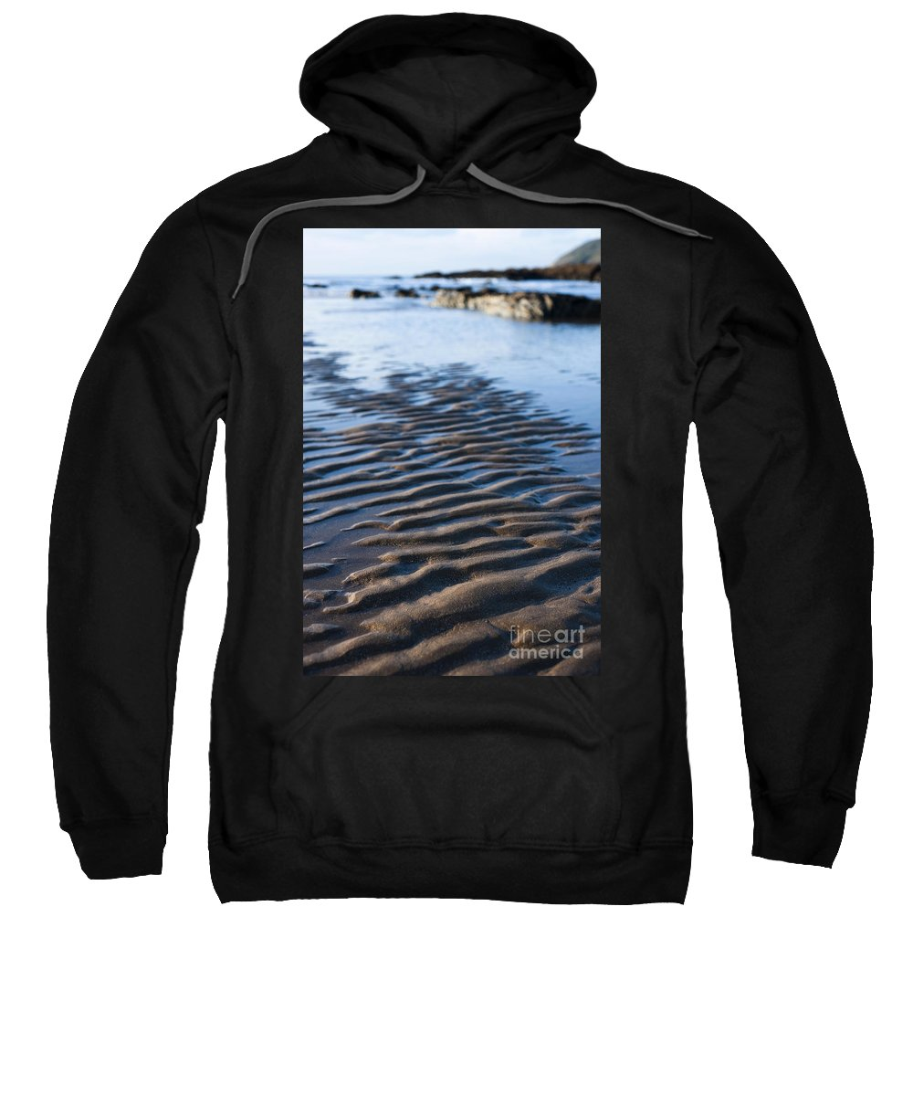 Autumn Sweatshirt featuring the photograph Ripples In The Sand by Anne Gilbert