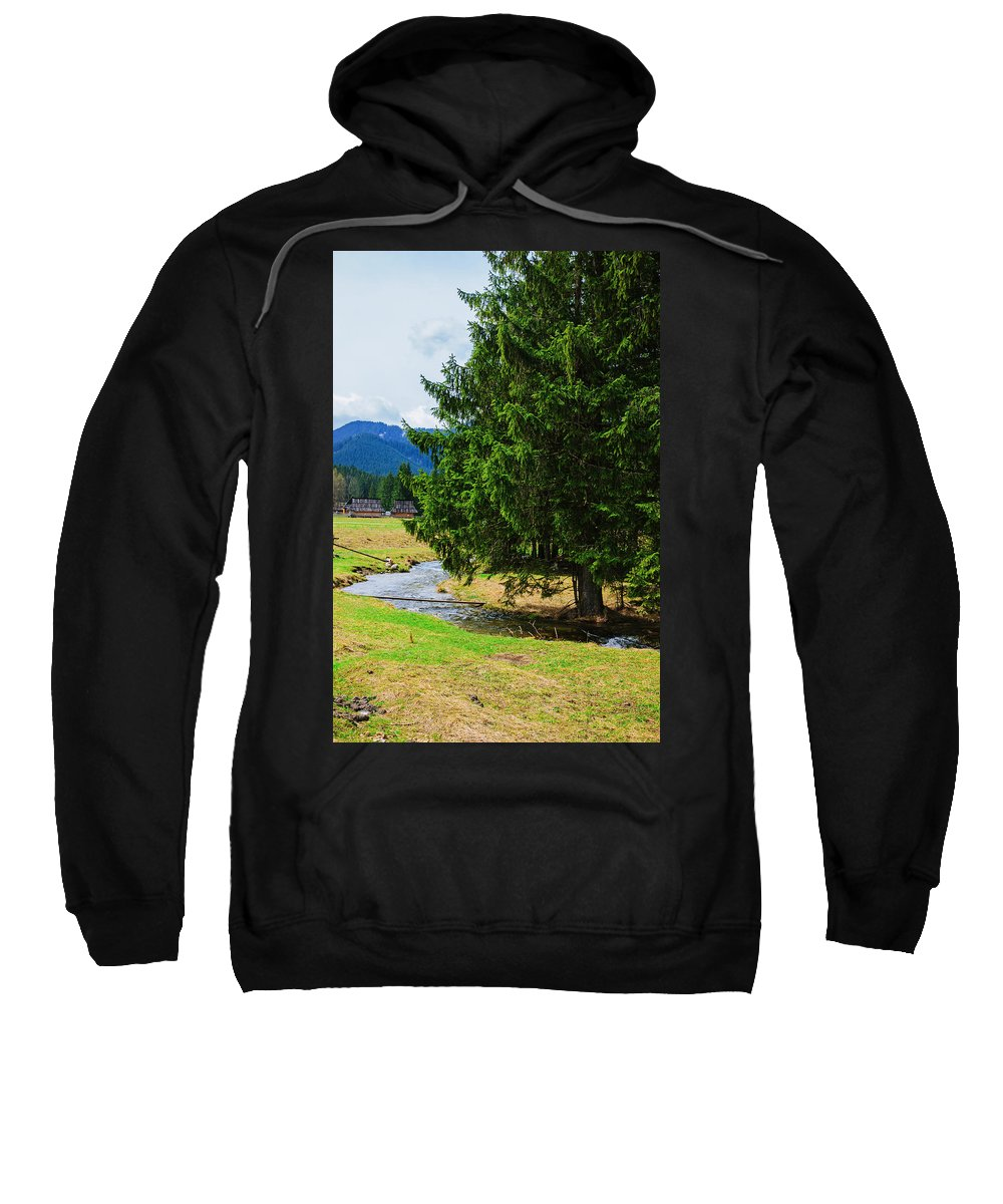 Nature Sweatshirt featuring the photograph River Bend by Pati Photography