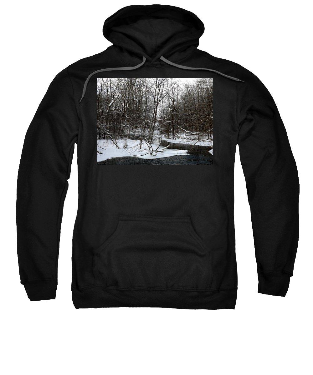 Chippewa River Sweatshirt featuring the photograph River Bends by Linda Kerkau