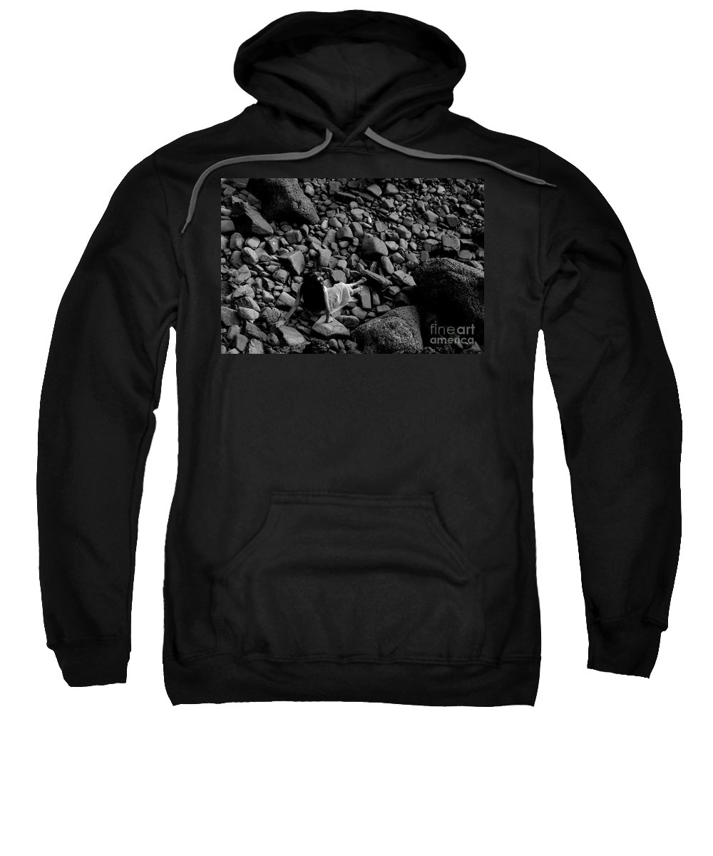 Stones Sweatshirt featuring the photograph River Of The Stones by Dattaram Gawade