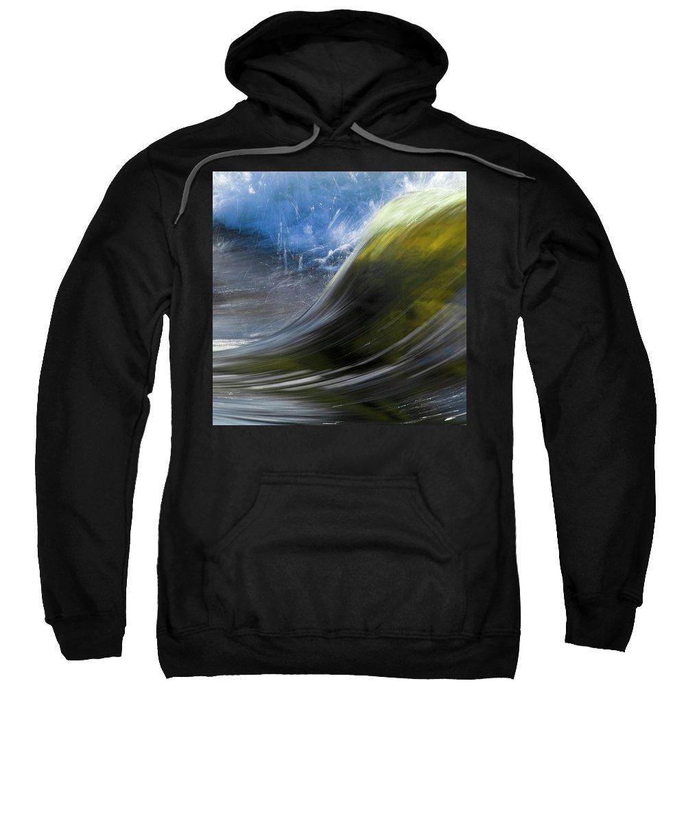 Heiko Sweatshirt featuring the photograph River Wave by Heiko Koehrer-Wagner