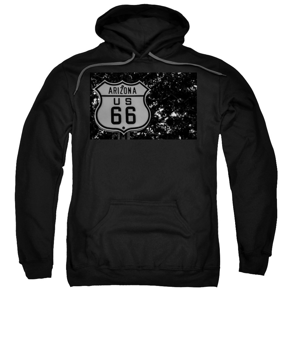 Route 66 Sweatshirt featuring the photograph Road Sign 2 by Angus Hooper Iii