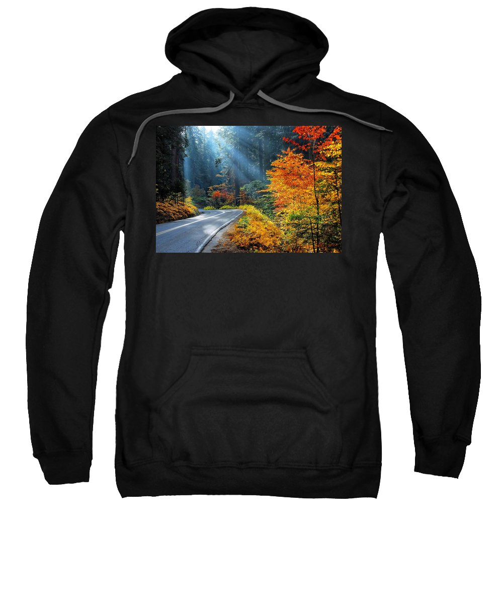 Sequoia National Park Sweatshirt featuring the photograph Road To Glory by Lynn Bauer