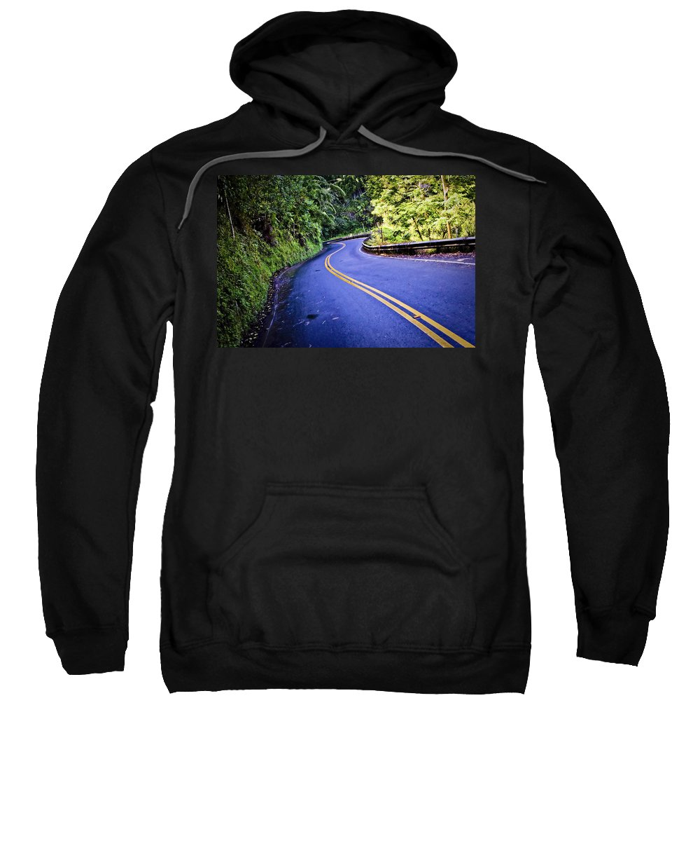 3scape Sweatshirt featuring the photograph Road To Hana by Adam Romanowicz