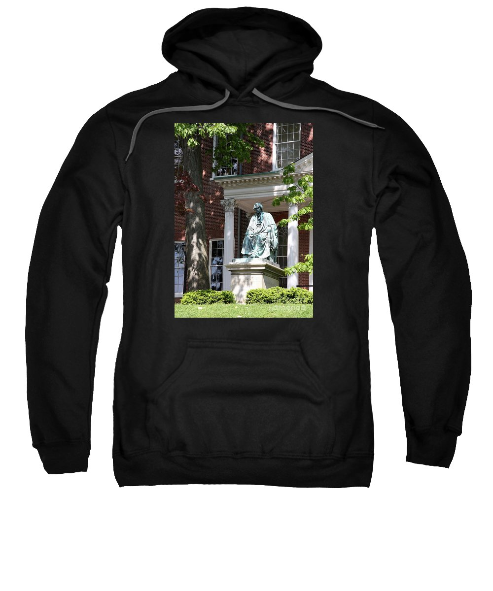 Statue Sweatshirt featuring the photograph Robert Brooke Taney Statue - Maryland State House by Christiane Schulze Art And Photography