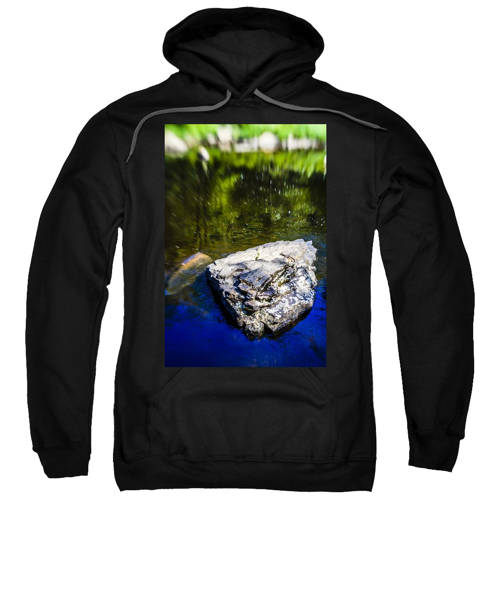 Water Sweatshirt featuring the photograph Rock In The Water by Alex Potemkin