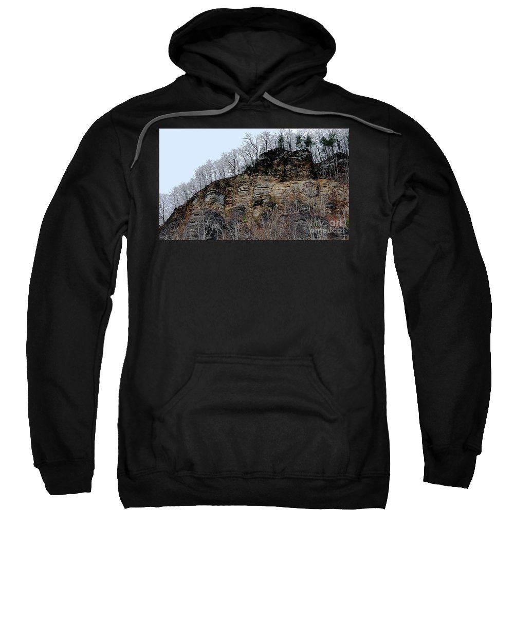 Rock Of Many Faces Sweatshirt featuring the photograph Rock Of Many Faces by Lydia Holly