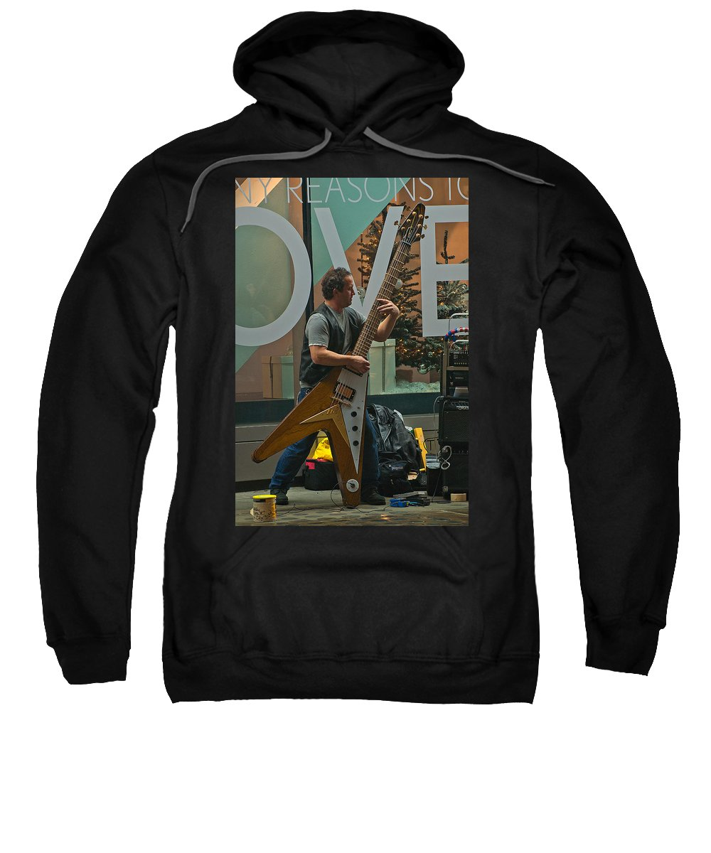 """""""new York City"""" Sweatshirt featuring the photograph Rocking Times Square by Paul Mangold"""