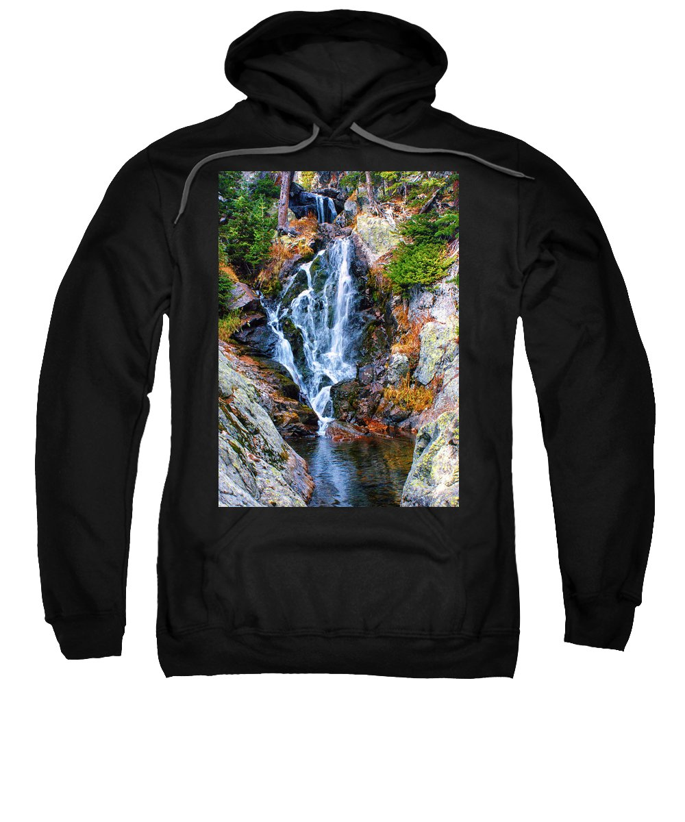 Water Sweatshirt featuring the photograph Rocky Mountain Cascade by Brian Kerls