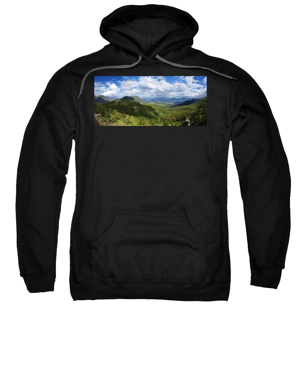Rocky Mountain National Park Sweatshirt featuring the photograph Rocky Mountain National Park Panorama by Alan Hutchins