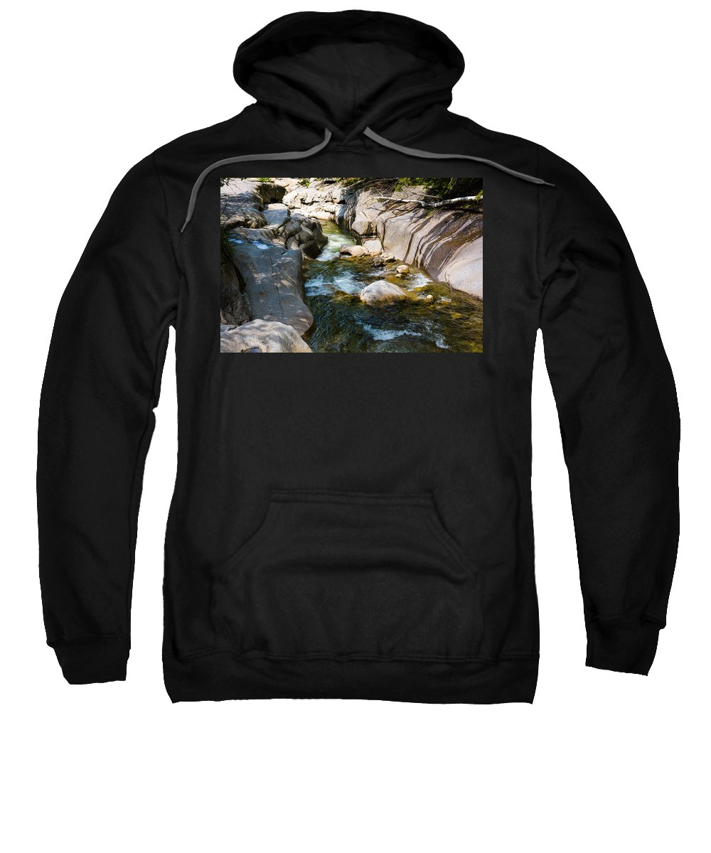 White Mountain National Forest Sweatshirt featuring the photograph Rocky River by Sherman Perry