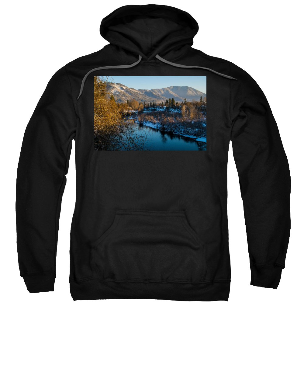 Rogue River Sweatshirt featuring the photograph Rogue River Winter by Mick Anderson