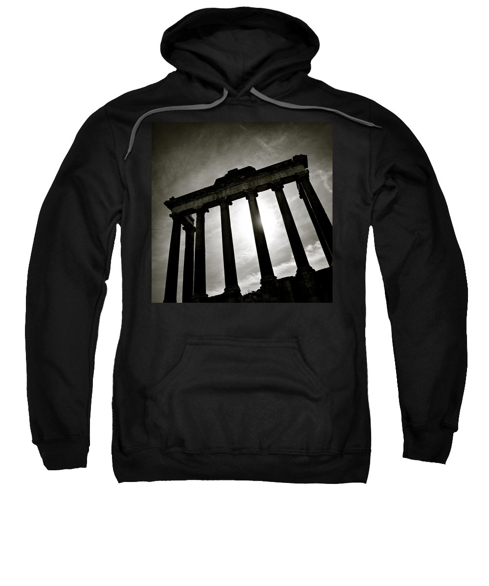 Roman Forum Sweatshirt featuring the photograph Roman Forum by Dave Bowman