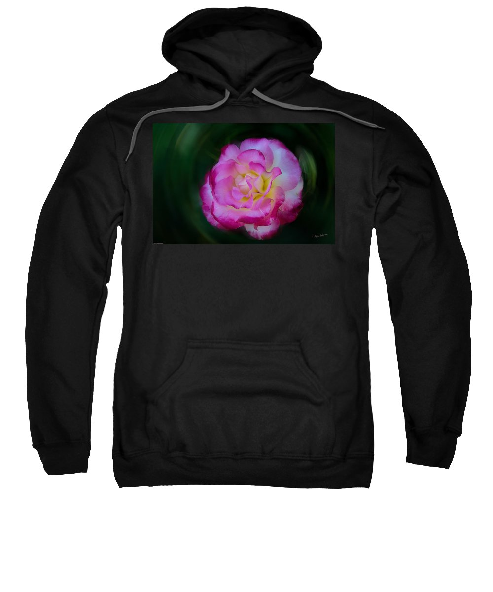 Rose Sweatshirt featuring the photograph Romancing The Rose by Mick Anderson