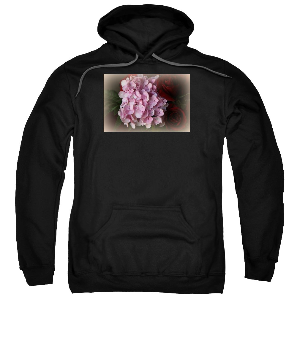 Beautiful Sweatshirt featuring the photograph Romantic Floral Fantasy Bouquet by Kay Novy