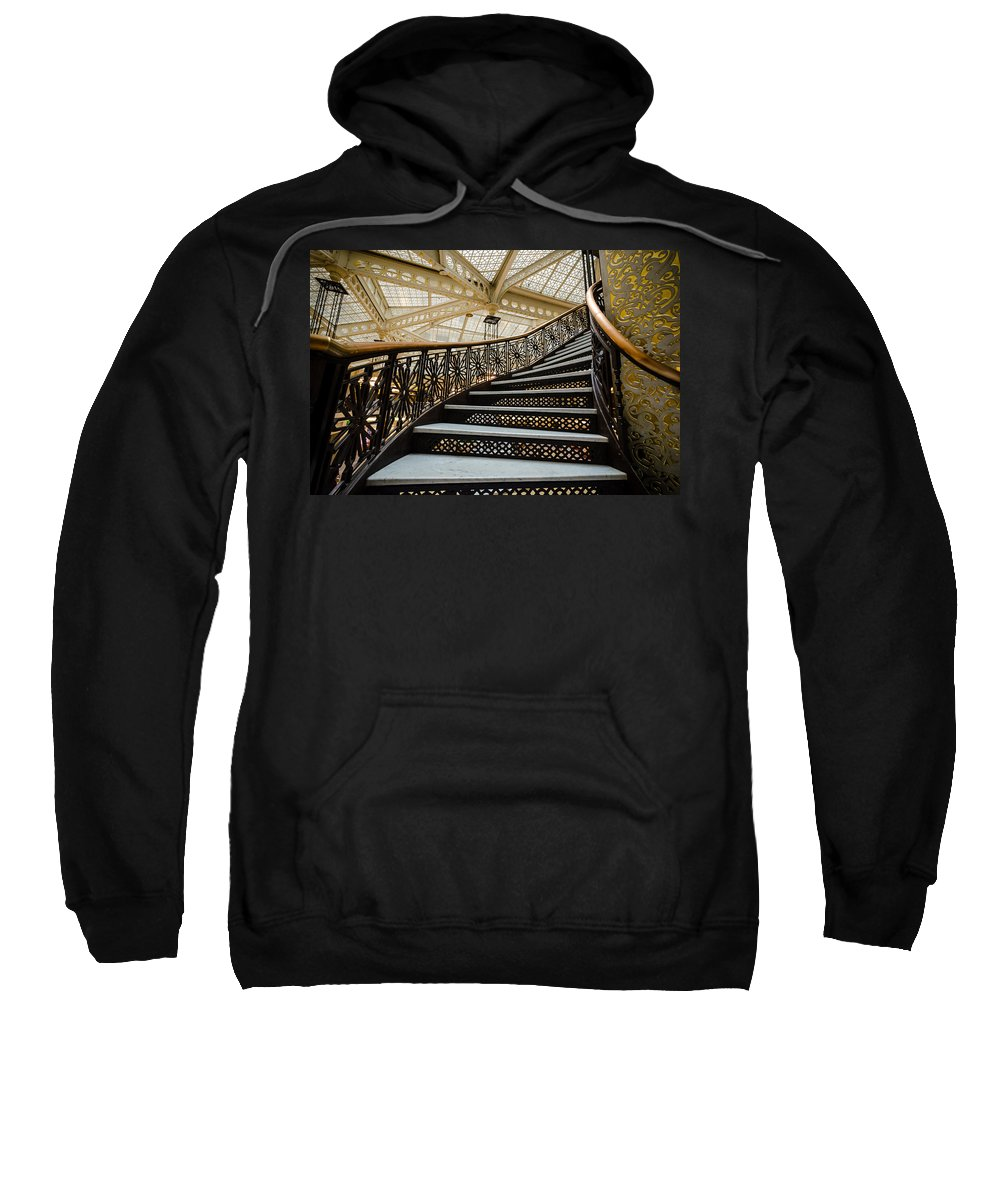 Chicago Sweatshirt featuring the photograph Rookery Building Atrium Staircase by Anthony Doudt