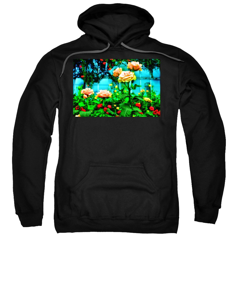 Rose Sweatshirt featuring the photograph Rose Garden by Bill Cannon