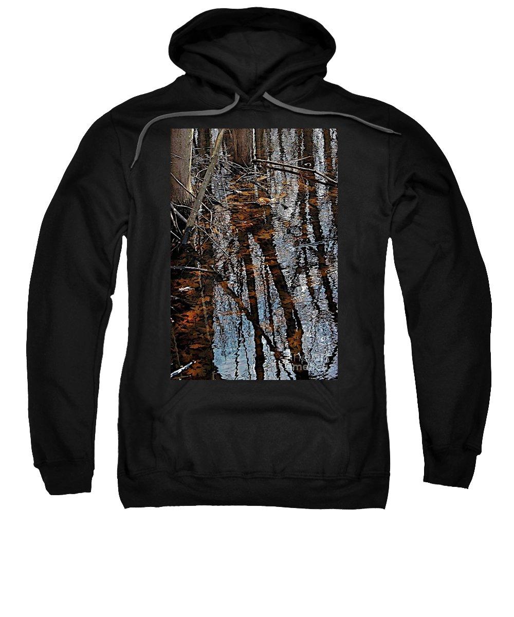 Fall Sweatshirt featuring the photograph Rose Lake by Joseph Yarbrough