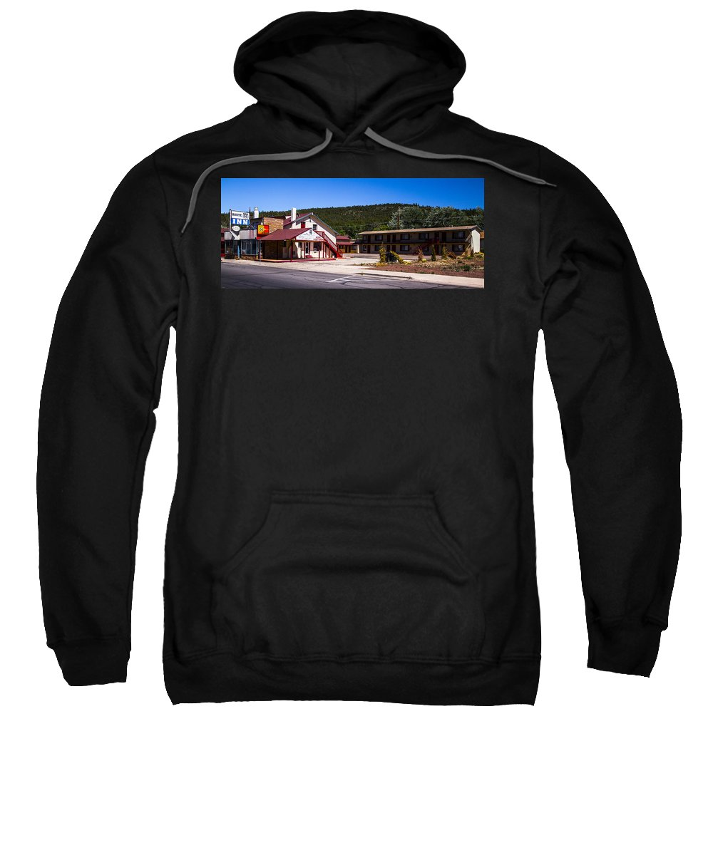 Route 66 Sweatshirt featuring the photograph Route 66 Inn by Angus Hooper Iii