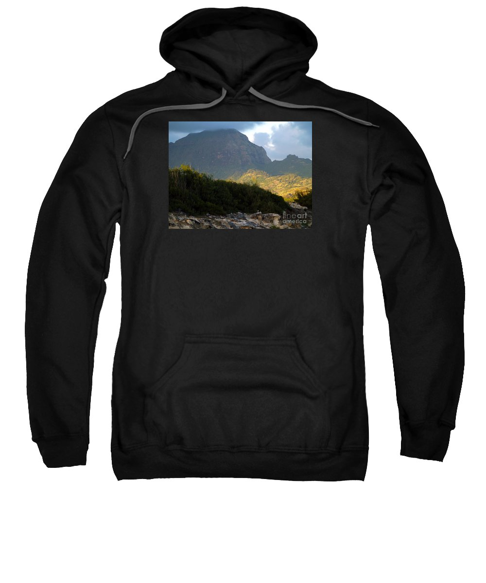 Kauai Sweatshirt featuring the photograph Rugged Majesty by Patricia Griffin Brett