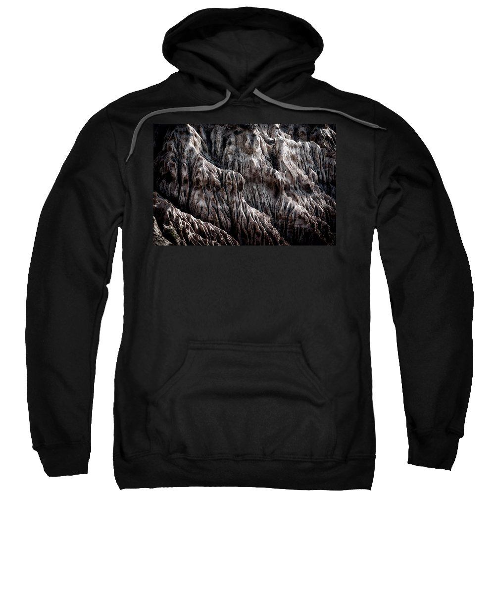 Sweatshirt featuring the photograph Rugged Shoreline by Paul Bartell