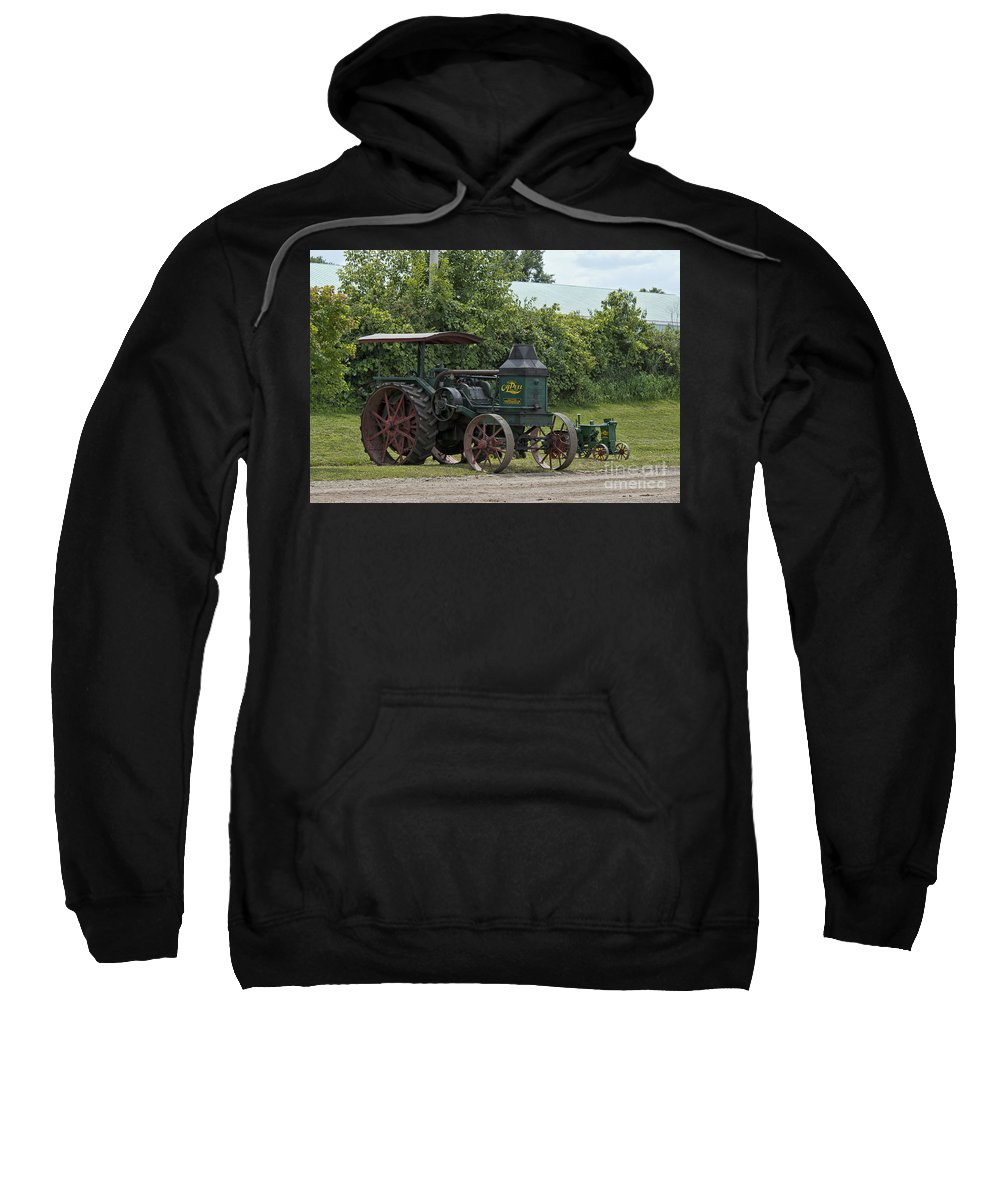 Old Tractor Sweatshirt featuring the photograph Rumely Mom And Son by David Arment