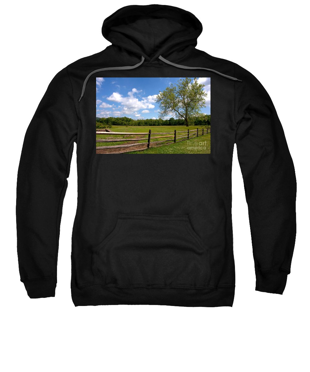 American Sweatshirt featuring the photograph Rural Landscape by Olivier Le Queinec
