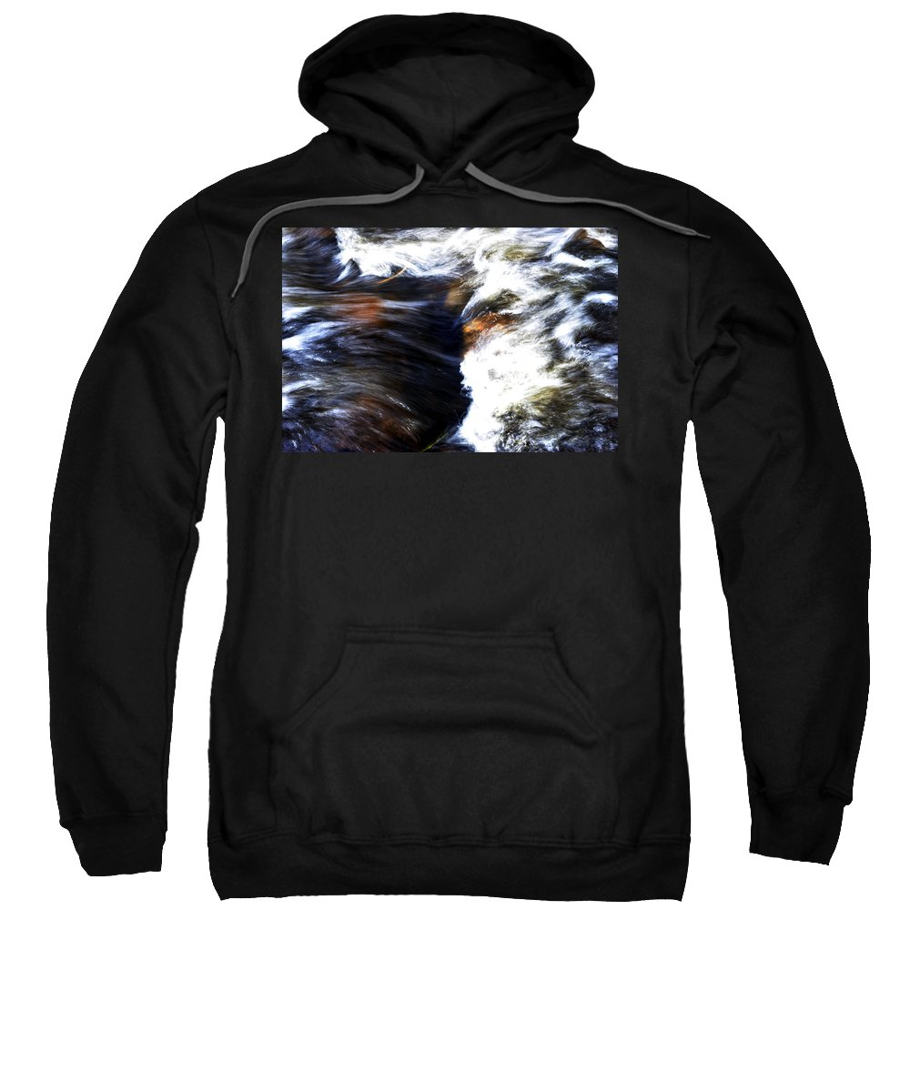 Landscape Sweatshirt featuring the photograph Rushing Water by Pam Romjue