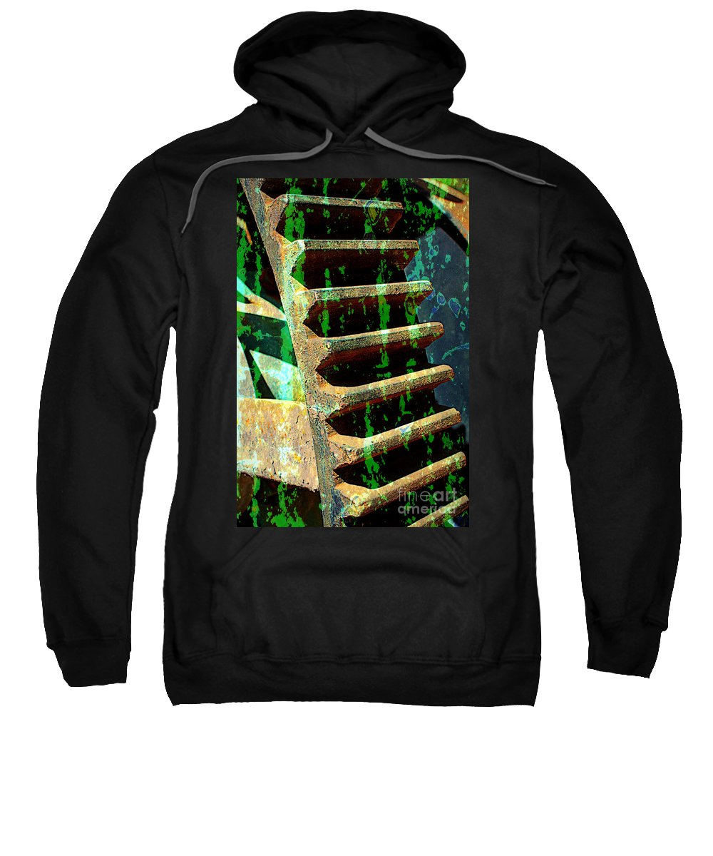 Rust Sweatshirt featuring the photograph Rusted Gears Abstract by Carol Groenen