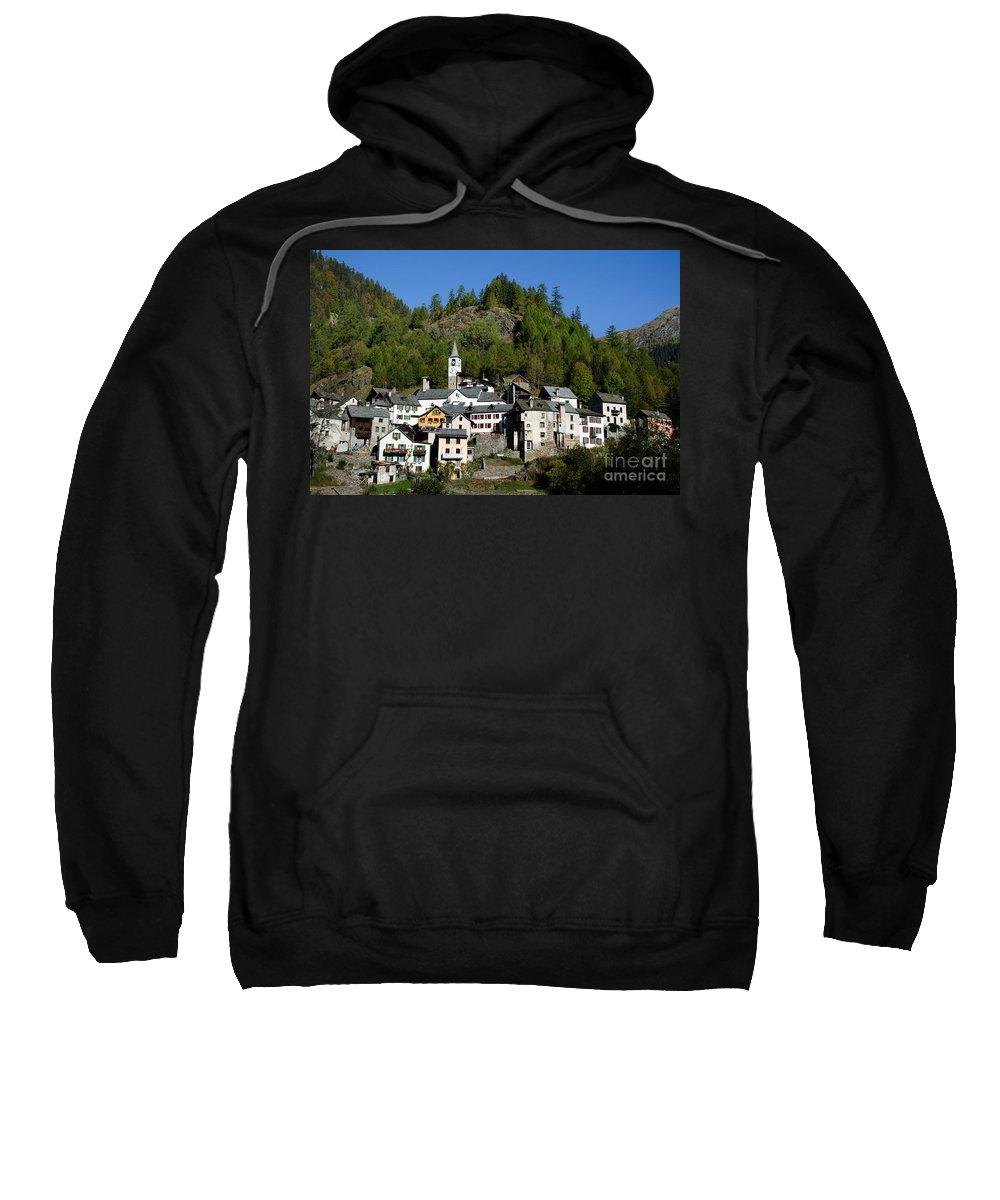 Village Sweatshirt featuring the photograph Rustic Alpine Village by Mats Silvan