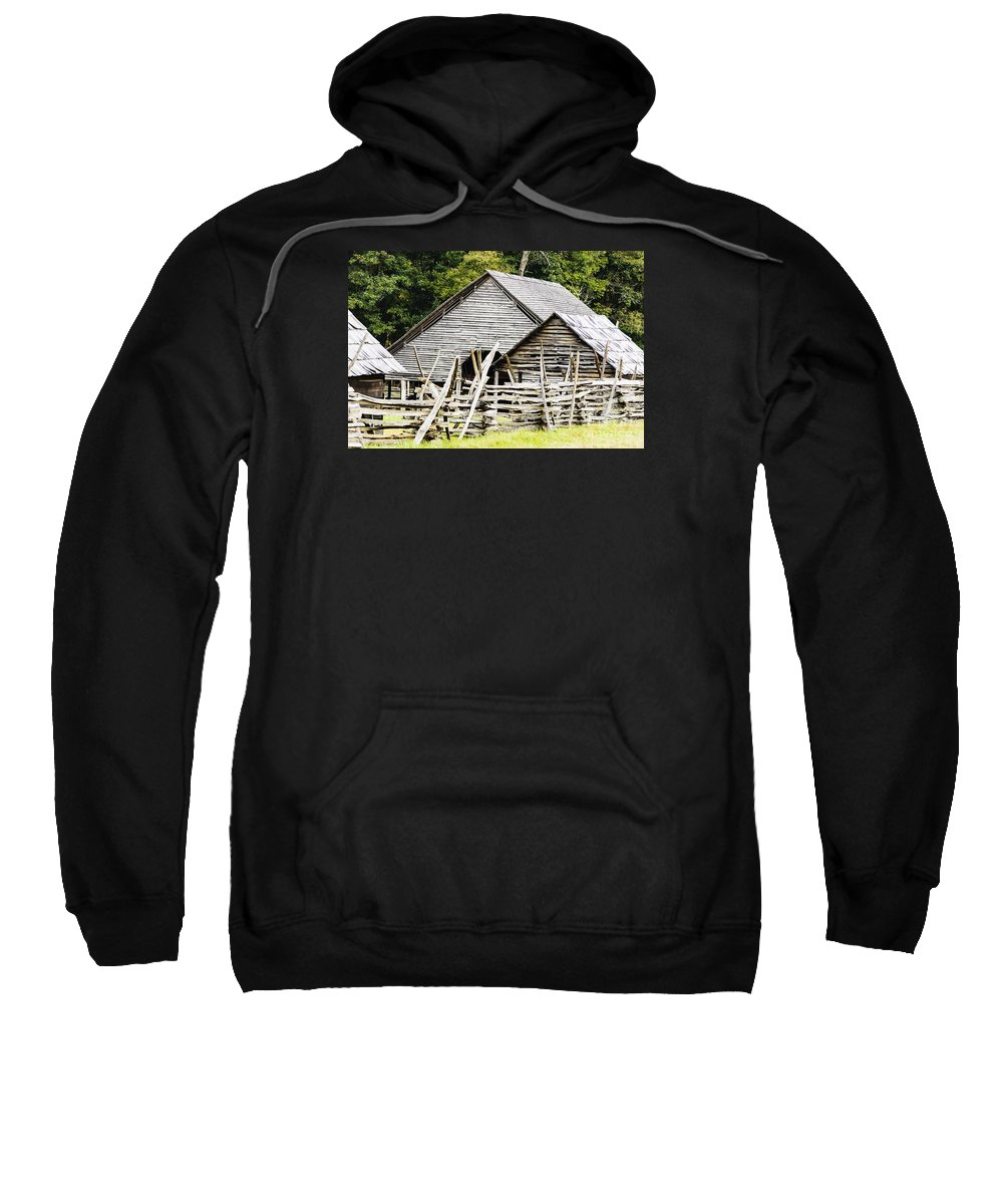 North Carolina Sweatshirt featuring the photograph Rustic Barnyard by Elvis Vaughn