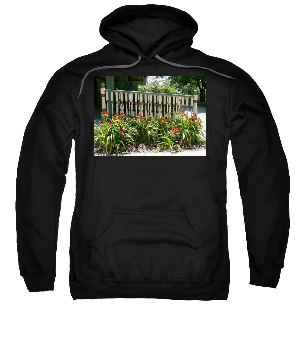 Lilies Sweatshirt featuring the photograph Rusty Lilies by Laurie Eve Loftin