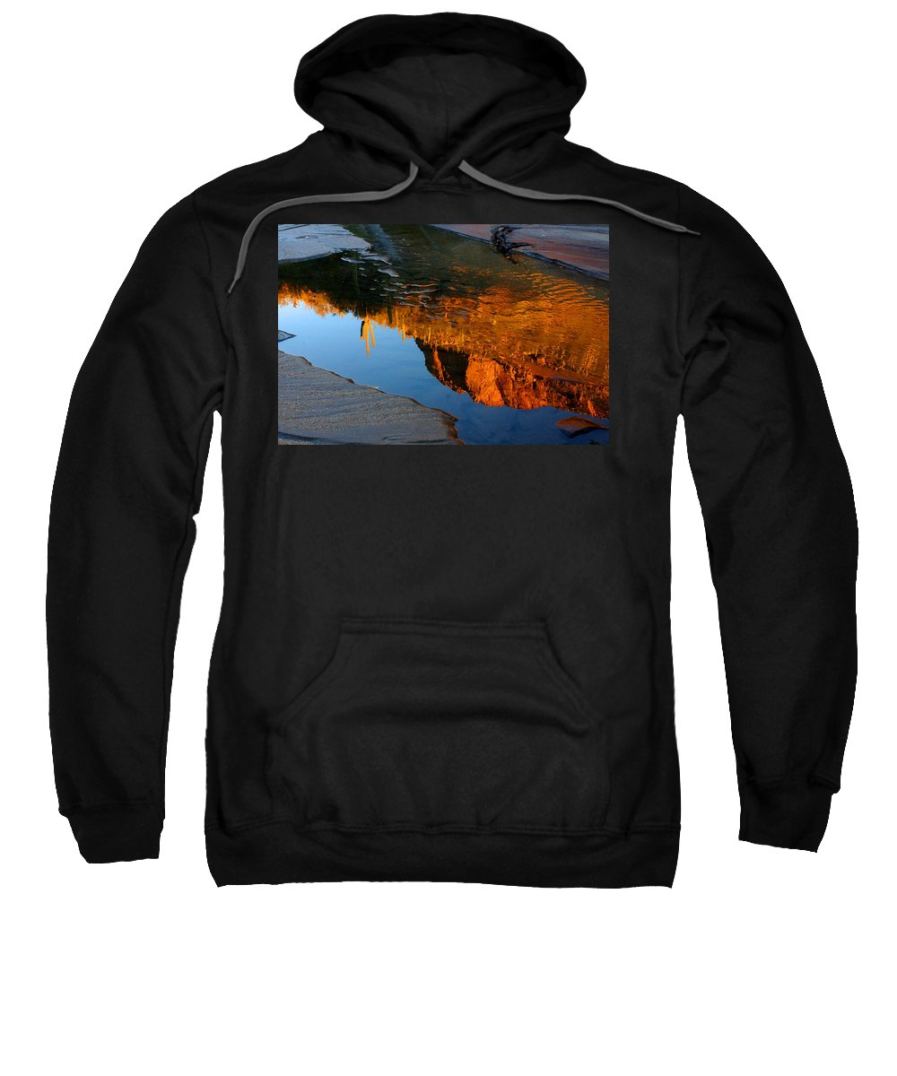 Sabino Canyon Tucson Coronado National Forest Water Cactus Reflection Santa Cantalina Mountains Arizona Tucson Arizona Park Stream Sabino Creek Sa Sweatshirt featuring the photograph Sabino Canyon Reflection by Reed Rahn