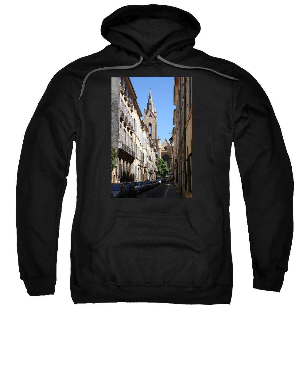 Church Sweatshirt featuring the photograph Saint Jean De Malte - Aix En Provence by Christiane Schulze Art And Photography