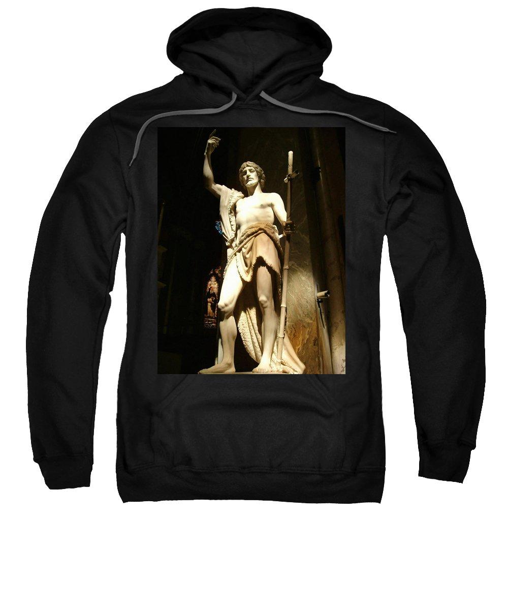 Saint John The Baptist Sweatshirt featuring the photograph Saint John The Baptist by Ellen Henneke