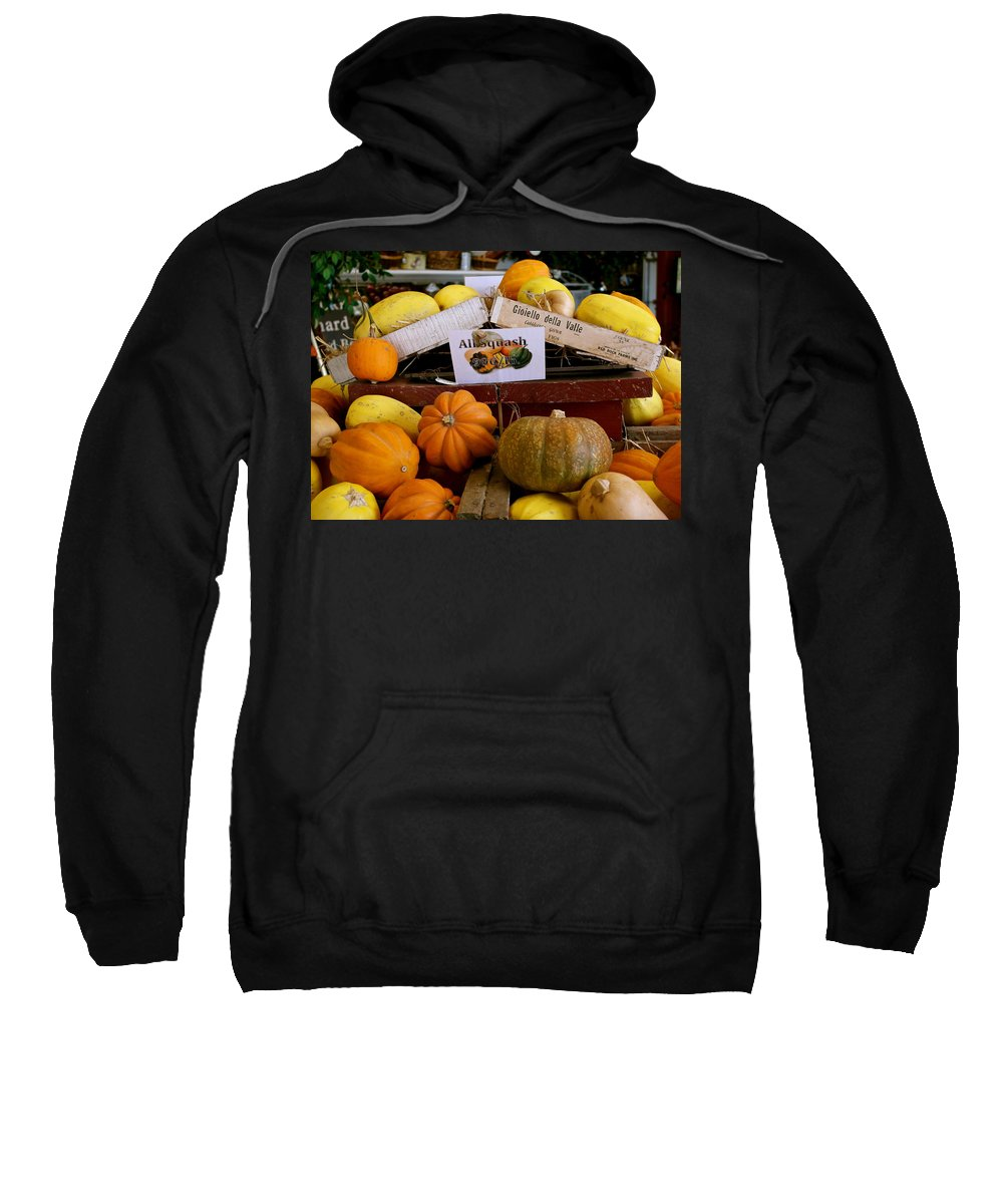 Squash Sweatshirt featuring the photograph San Joaquin Valley Squash Display by Michele Myers