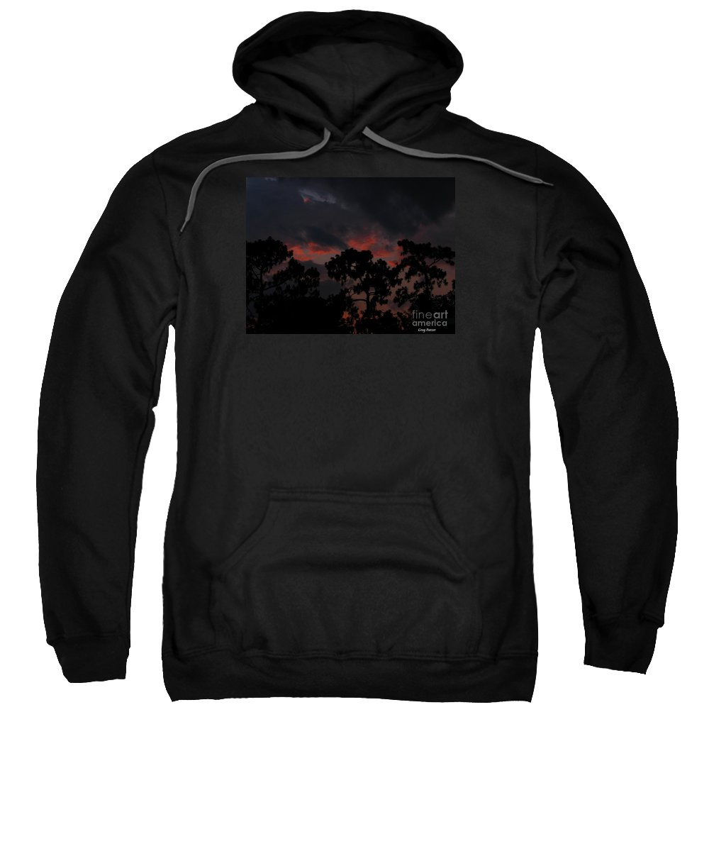 Art For The Wall...patzer Photography Sweatshirt featuring the photograph Salmon Sunset by Greg Patzer
