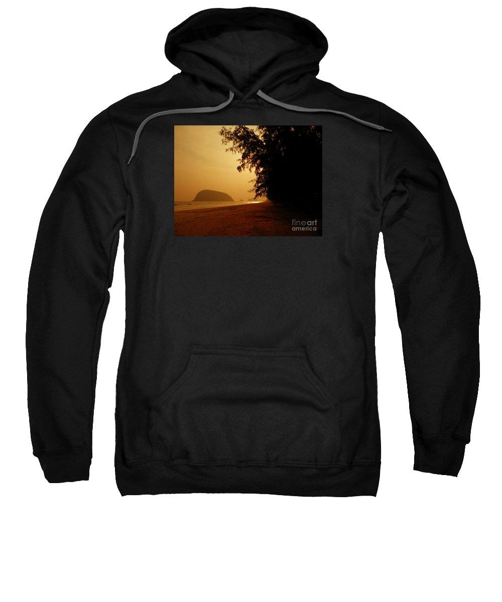 Landscape Sweatshirt featuring the photograph Sam Roi Yod At Dawn 04 by Pusita Gibbs