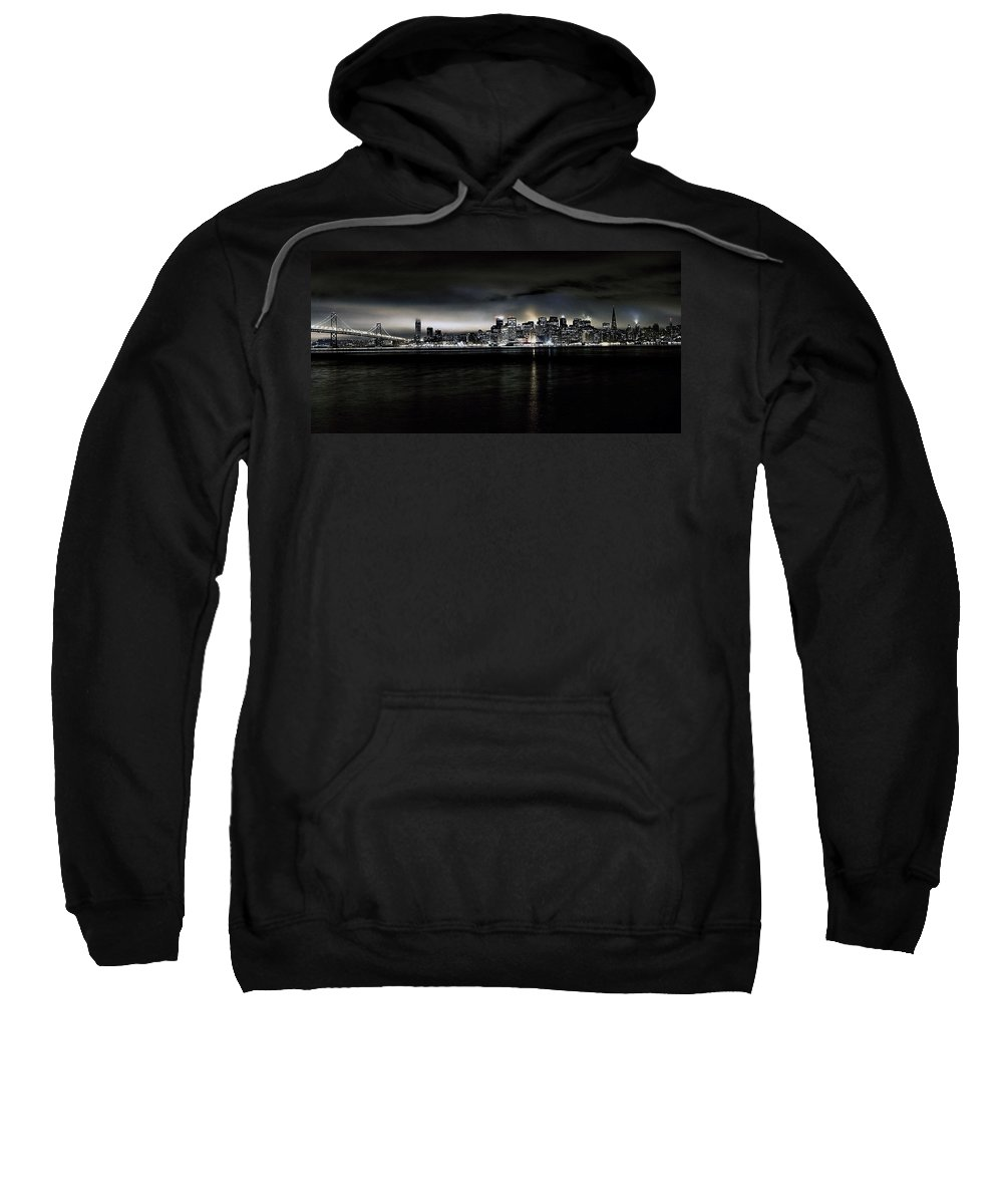 City By The Bay Sweatshirt featuring the photograph Across The Bay Version A by Digital Kulprits