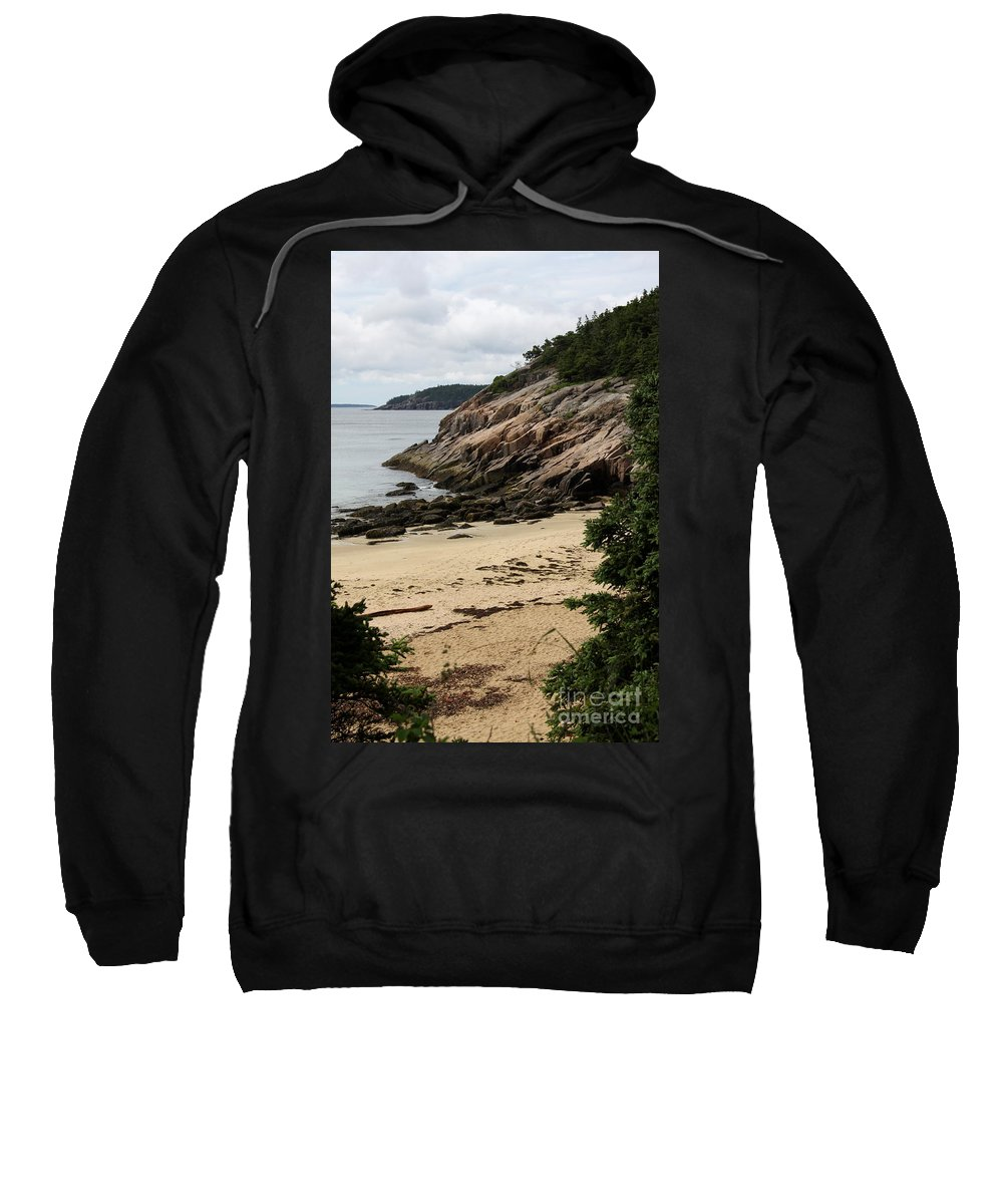 Rocky Coast Sweatshirt featuring the photograph Sand Beach Acadia Park by Christiane Schulze Art And Photography