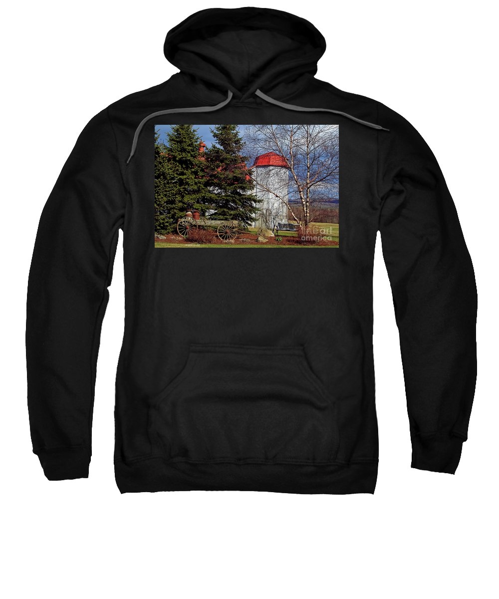 Vermont Sweatshirt featuring the photograph Scene In Vermont by Deborah Benoit