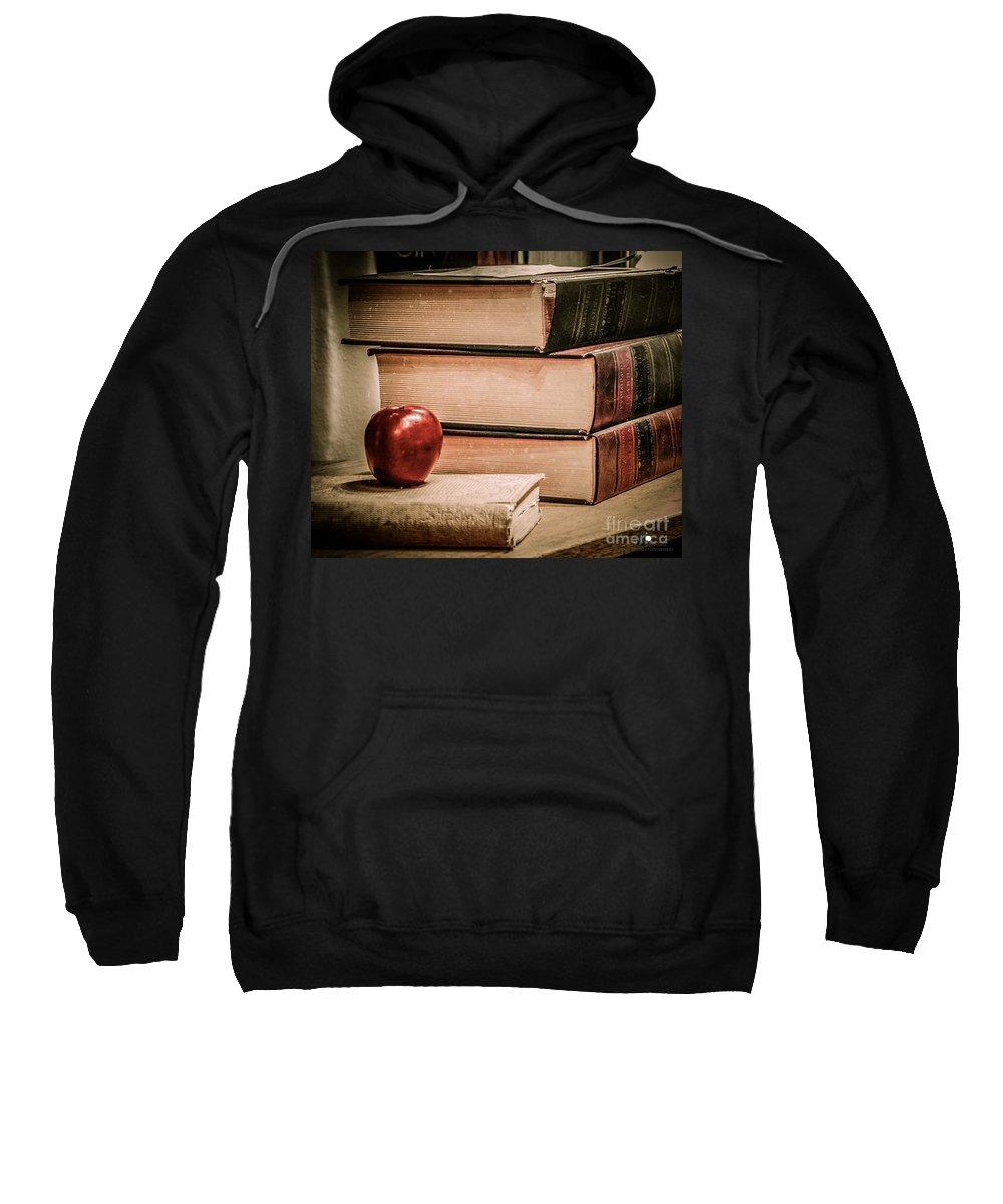 School Sweatshirt featuring the photograph School Books by Grace Grogan