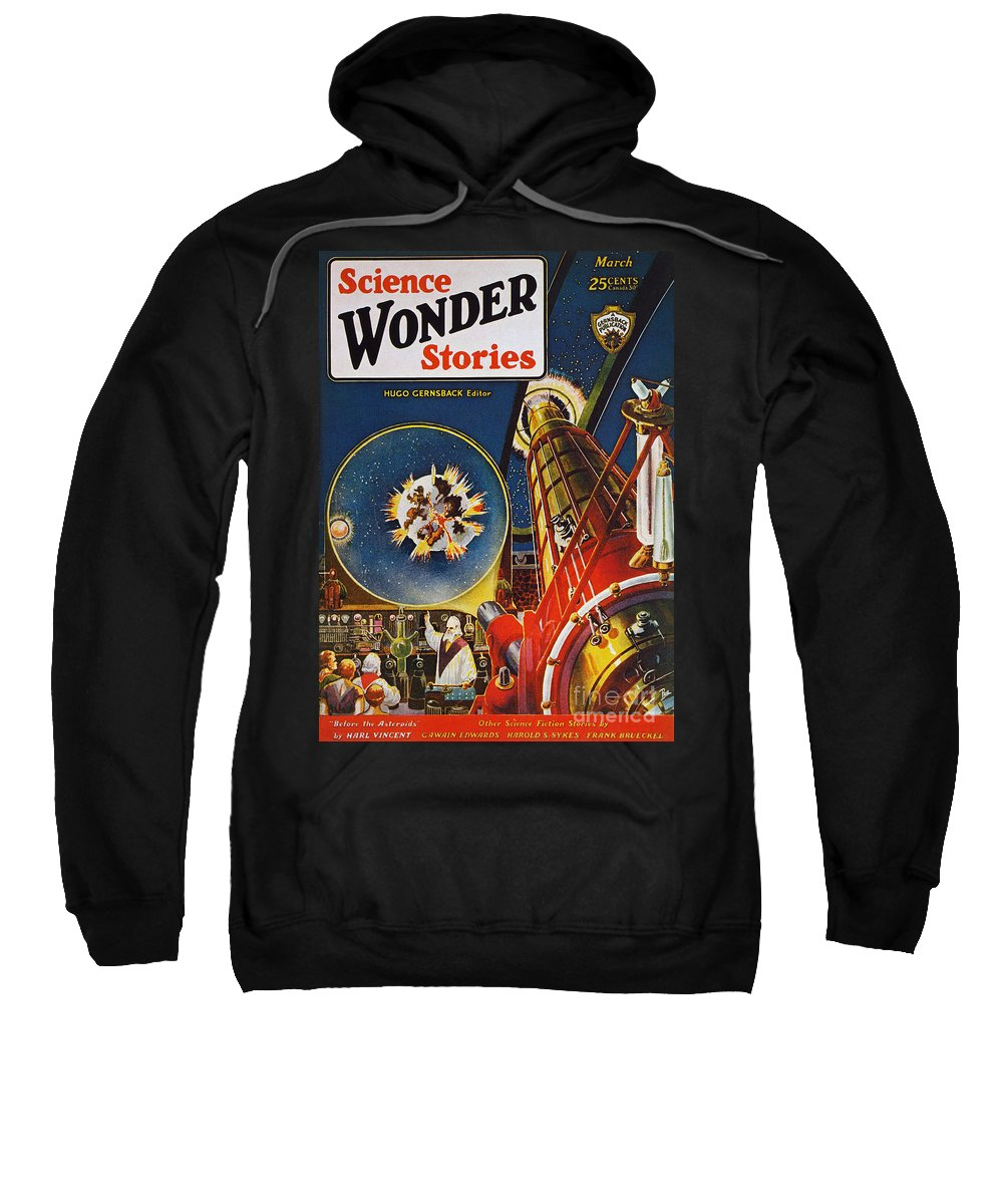 1930 Sweatshirt featuring the photograph Sci-fi Magazine Cover, 1930 by Granger