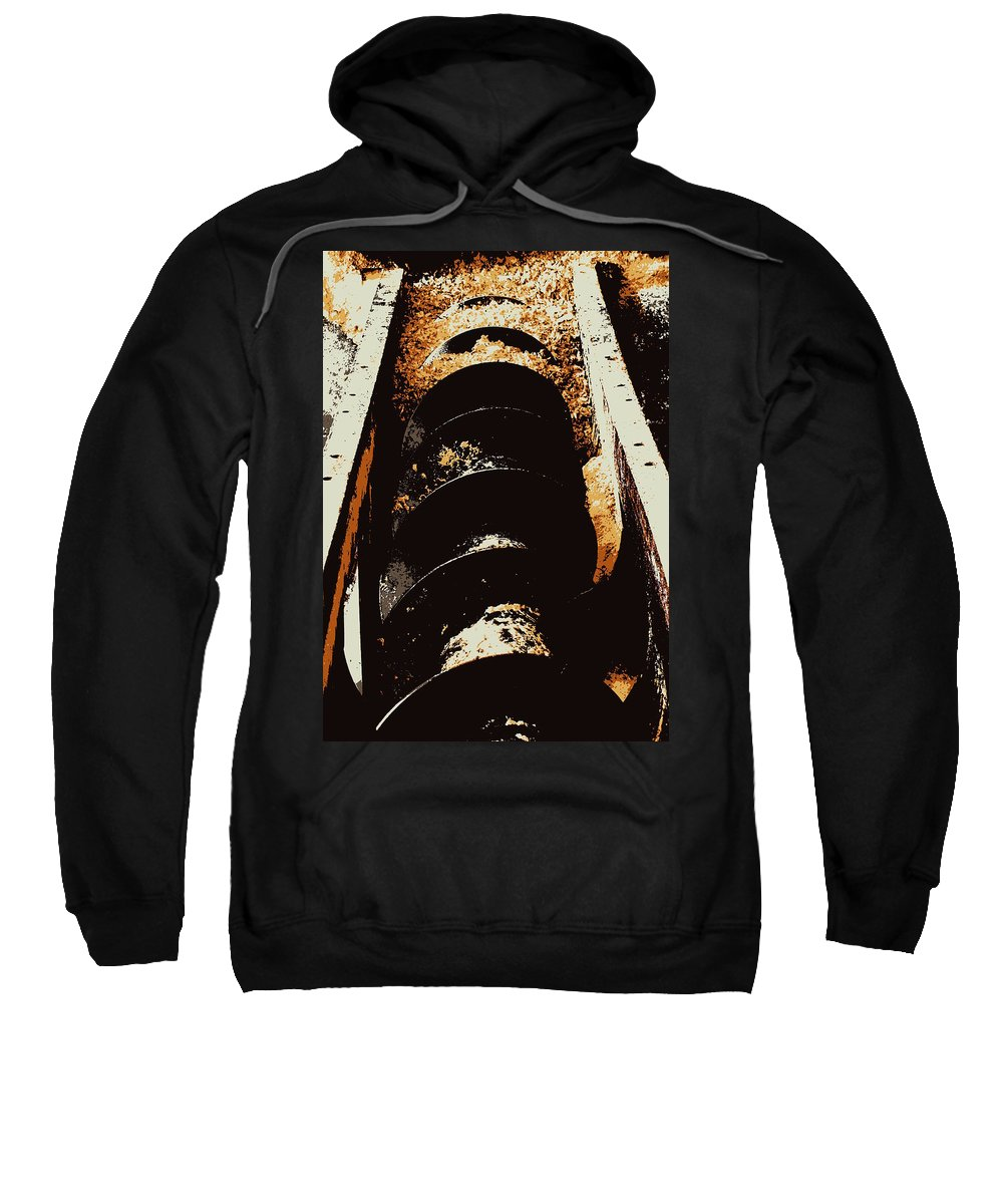 Hopper Sweatshirt featuring the photograph Screw Archimedes 2 by Guy Pettingell