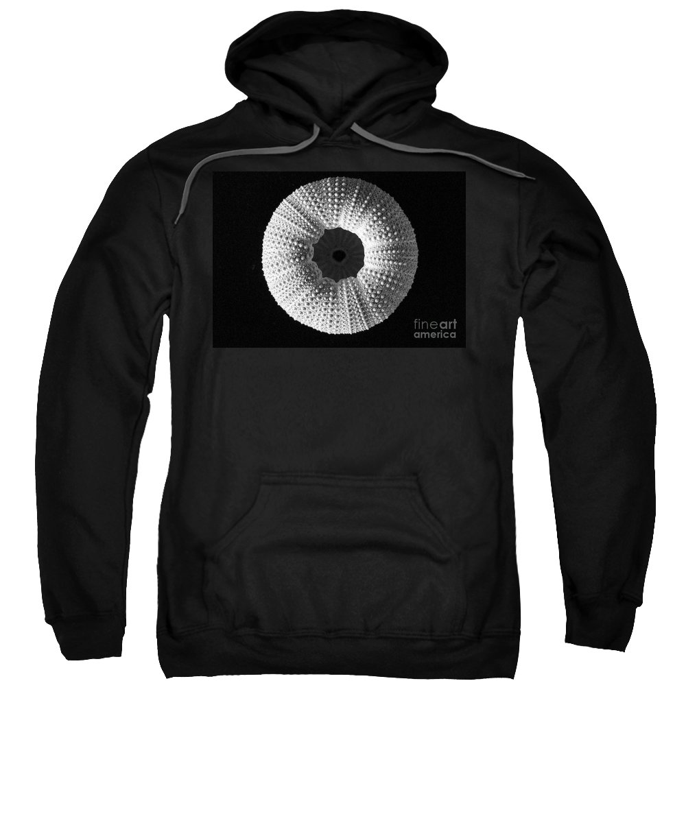 Sea Sweatshirt featuring the photograph Sea Urchin In Black And White by Mary Deal